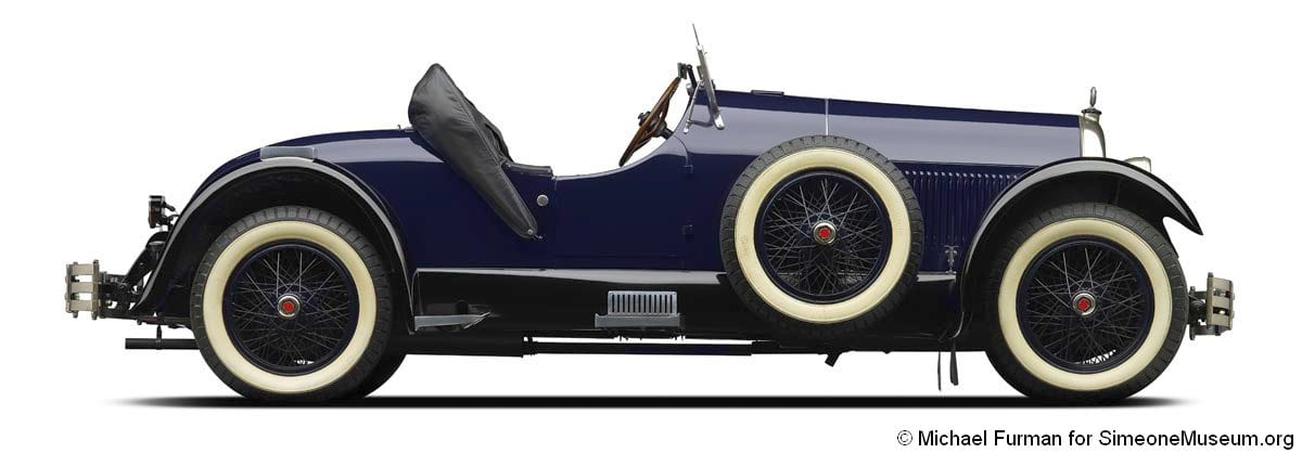 1926 kissel 8 75 speedster top down side right