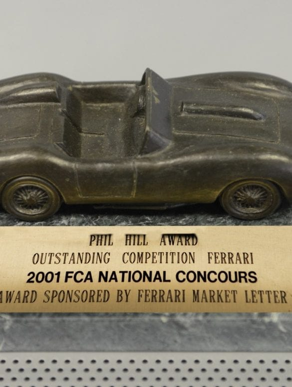 trophy 2001 fca national concours phil hill award