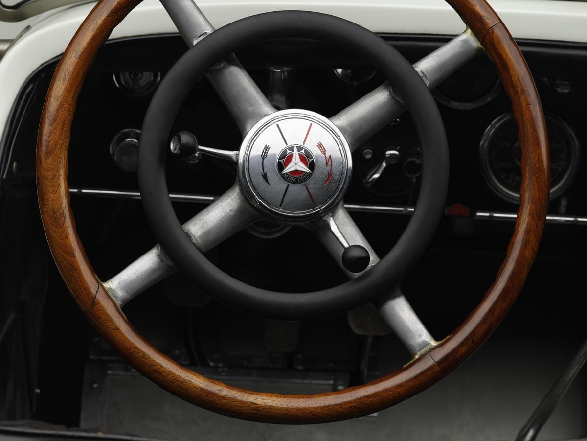 1927 mercedes benz s steering wheel