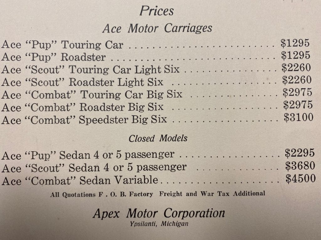 Ace Motor Carriages