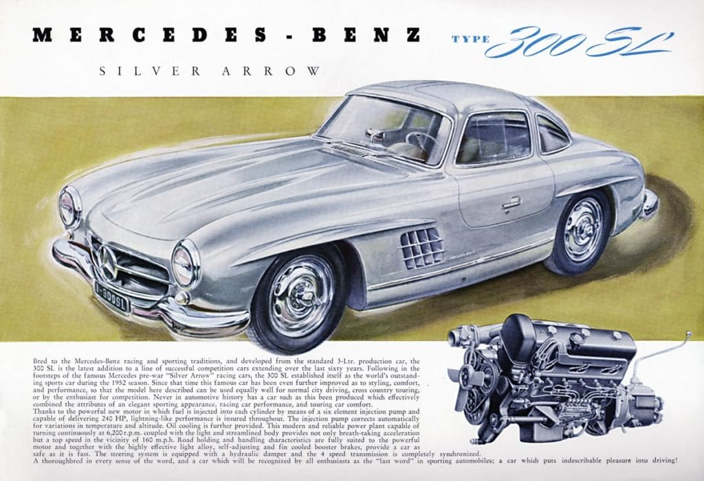 1955 mercedes benz 300sl coupe a historic
