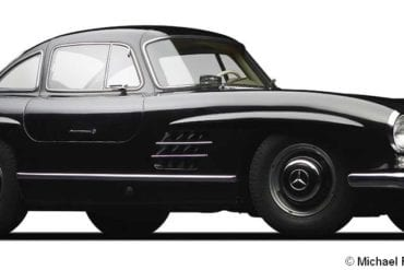 1956 mercedes benz 300sl coupe f3q